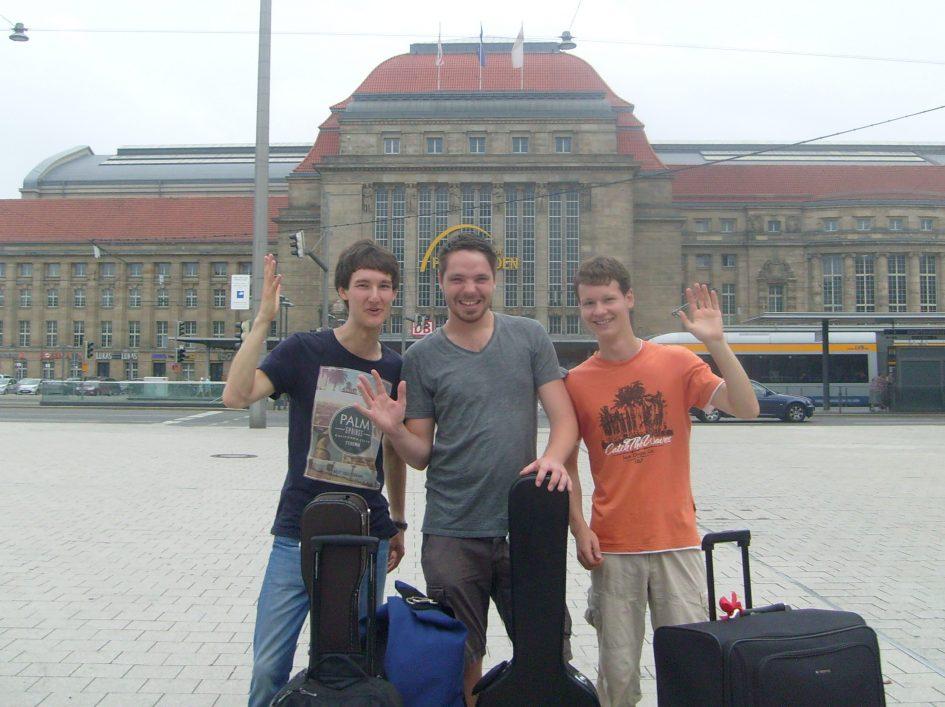 Foto der Singer-Songwriter-Band Strandheizung auf ihrer Tour 2015 in Leipzig. Foto: Strandheizung.