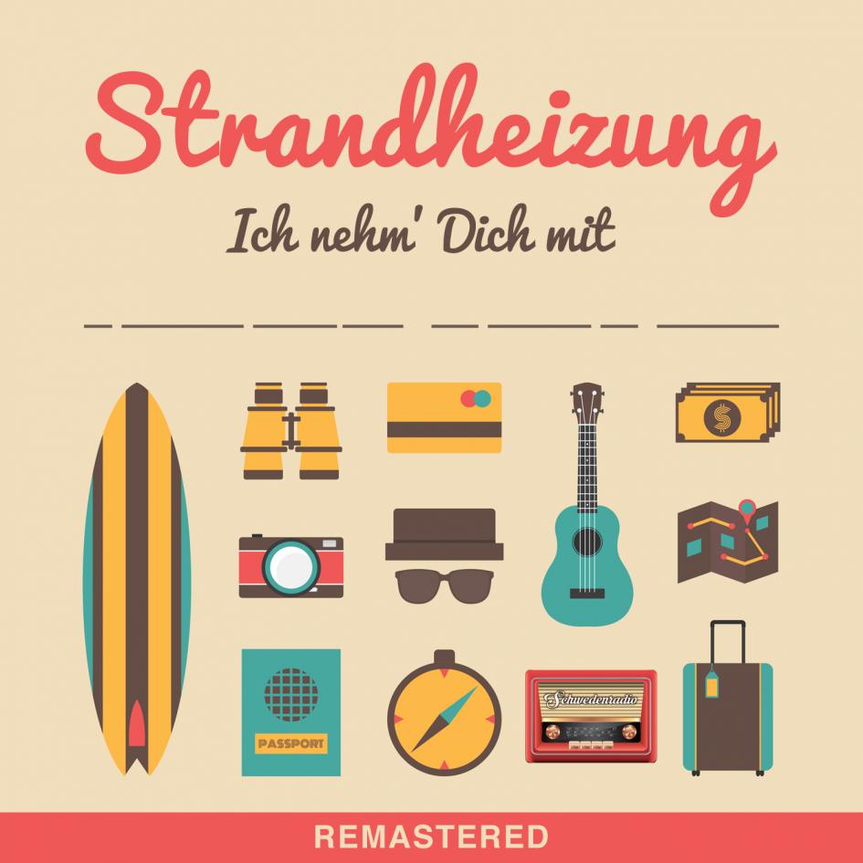 """Cover der digitalen Single """"Ich nehm' Dich mit"""" der Singer-Songwriter-Band Strandheizung von 2016. Grafik: Marco Torrance."""