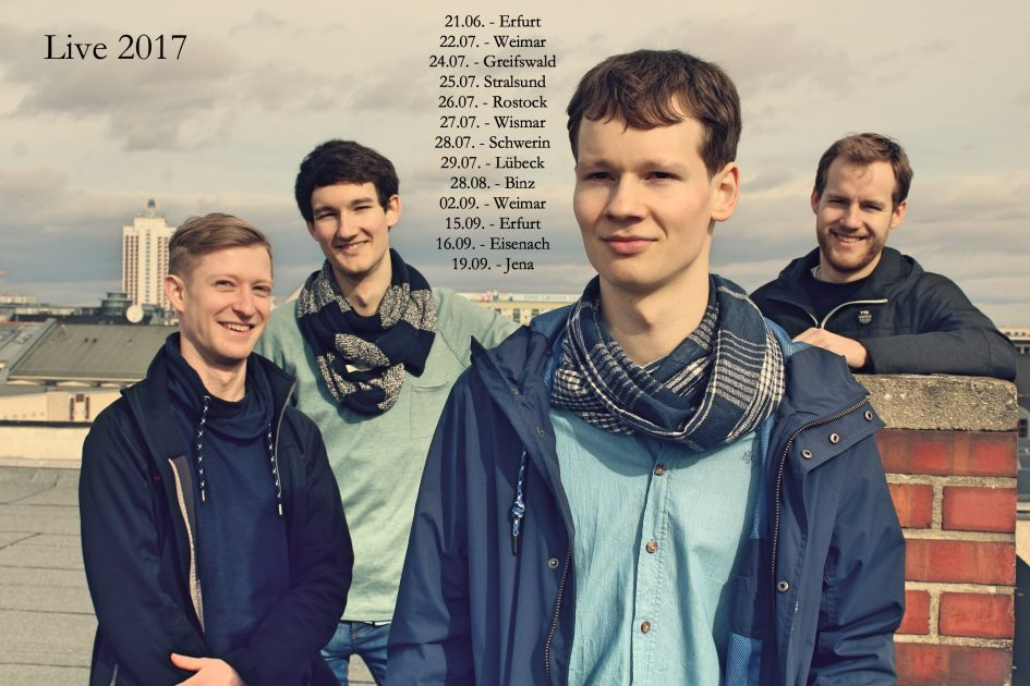 Promotionsfoto der Singer-Songwriter-Band Strandheizung für die Livesaison 2017. Foto: Richard Kube.