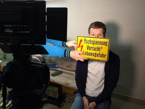"""Making-of-Foto vom Videodreh zum Song """"Euphorie"""" der Singer-Songwriter-Band Strandheizung von 2017. Foto: Florian Eib."""