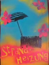 Foto des ersten Plakats der Singer-Songwriter-Band Strandheizung von 2008. Foto: Strandheizung.