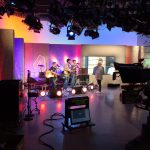 Foto der Singer-Songwriter-Band Strandheizung bei den Proben zum Fernsehauftritt bei MDR um vier im Mai 2016.