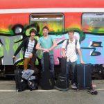 Foto der Singer-Songwriter-Band Strandheizung auf ihrer Sommer-Tour 2014 in Leipzig.