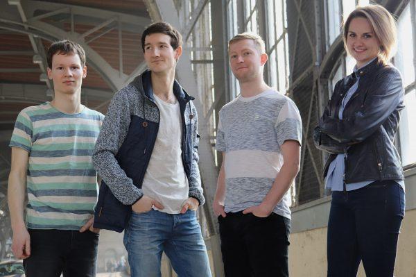 Promotionsbild für die Aufnahme der Singer-Songwriter-Band Strandheizung in die Spotify-Playlist von Muskelkater Records