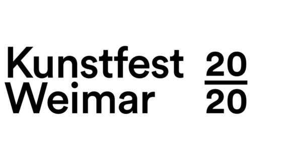 Logo des Kunstfest Weimar 2020 anlässlich des Auftritts der Singer-Songwriter-Band Strandheizung im September 2020.