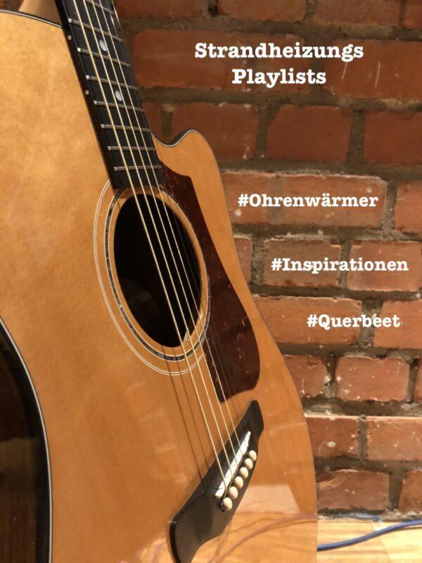 Promotionsbild für die Ohrenwärmer-Playlist der Singer-Songwriter-Band Strandheizung von 2021.